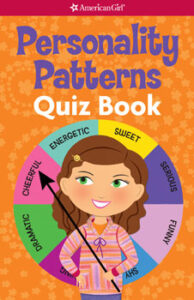 american girl book cover Personality Patterns Quiz Book, which was edited by carrie anton