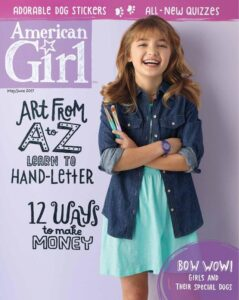 american girl magazine cover image leading to links of writer carrie anton's article clips