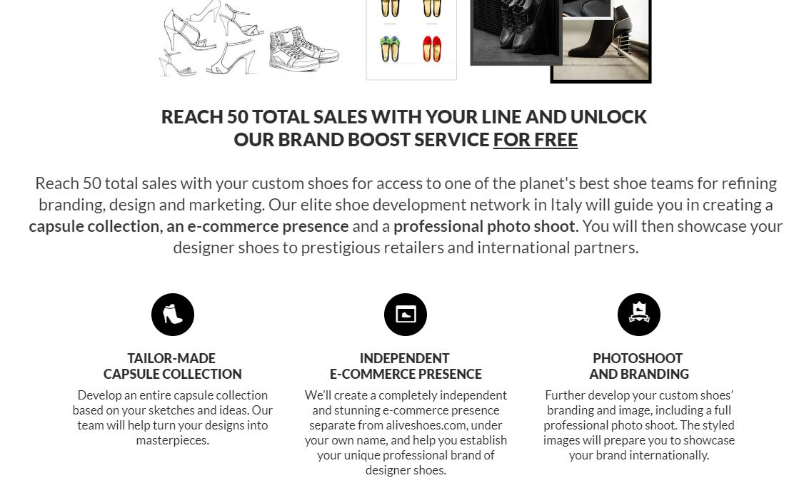 carrie anton digital copywriting description sample for aliveshoes of brand boost service