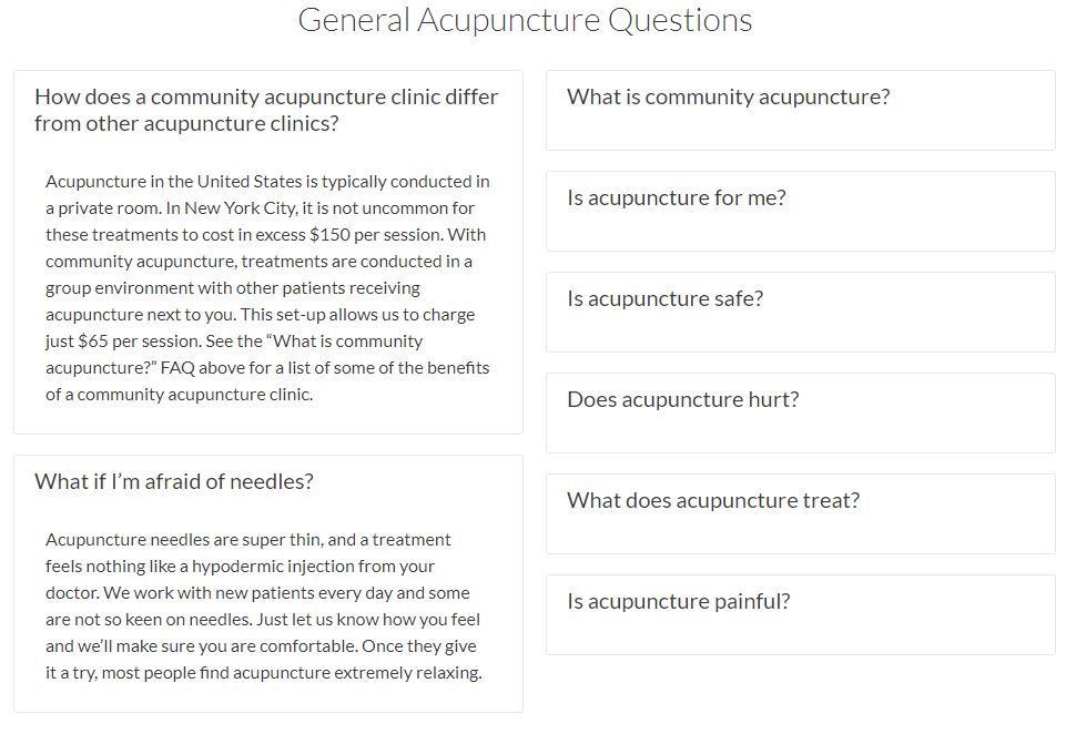 carrie anton digital writing sample of general acupuncture questions for olo acupuncture's faq section