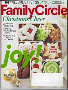 family circle magazine cover image leading to links of writer carrie anton's article clips