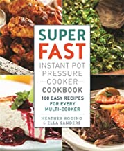 book cover of super fast instant pot pressure cooker cookbook, which was copyedited by carrie anton