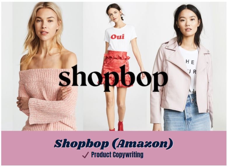 icon link to amazon shopbop product copywriting samples from carrie anton