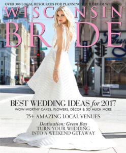 wisconsin bride magazine cover image leading to links of writer carrie anton's article clips